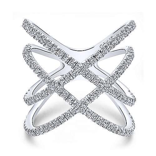 Layered Woven Diamond Ring