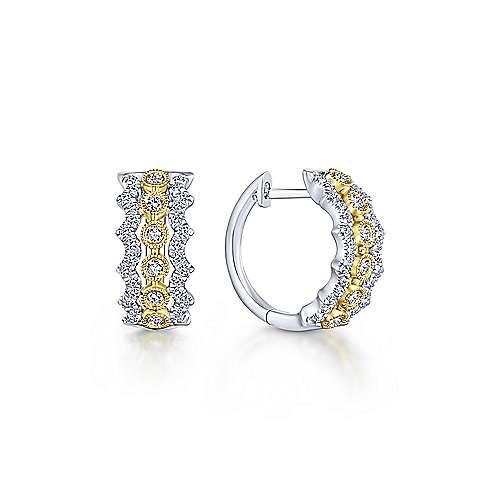 10mm Diamond Huggie Earrings
