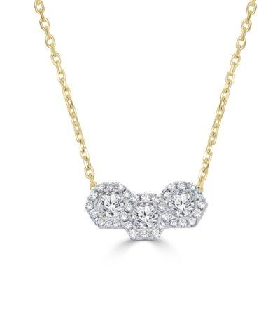 Diamond Hexagonal Pendant