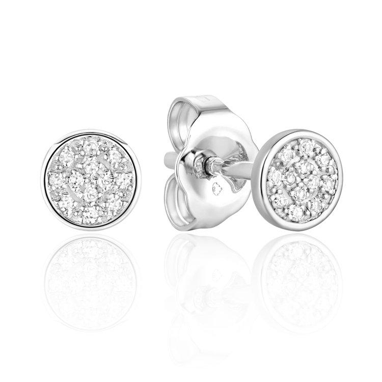 Diamond Round Micro Stud Earrings