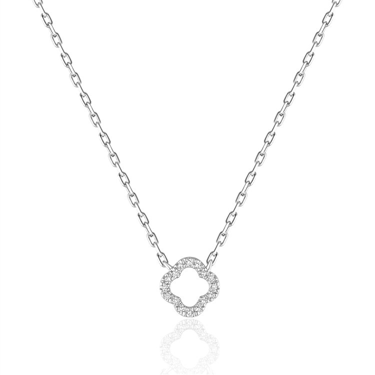 Diamond Clover Pendant