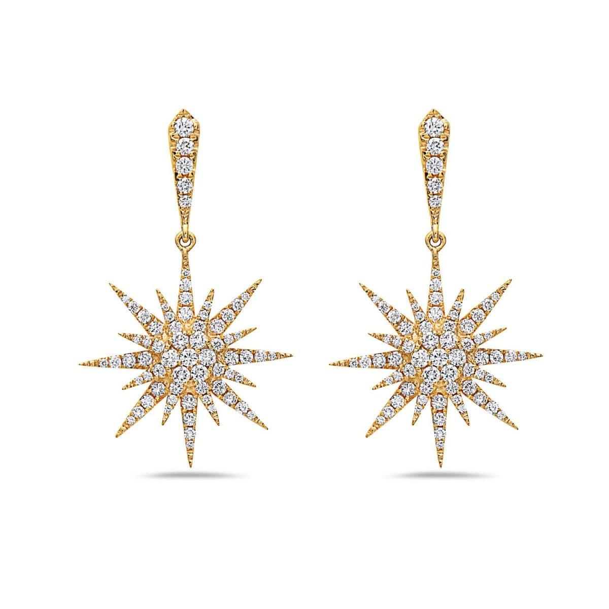 DIAMOND STARBURST EARRINGS