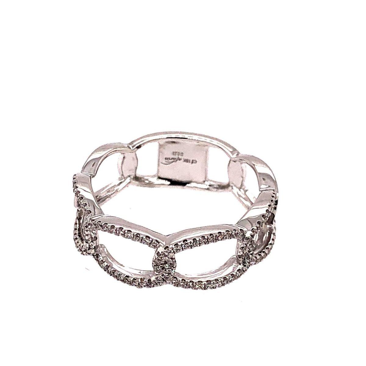 Diamond Interlocking Ovals Ring