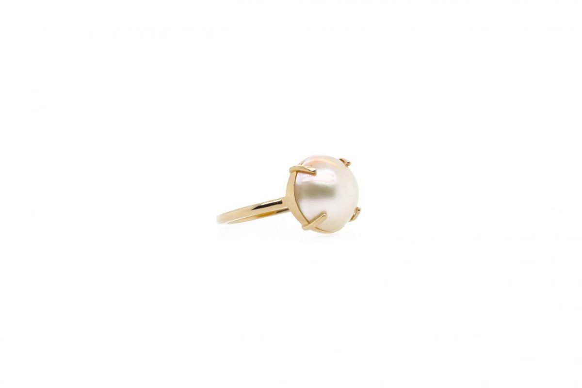 Custom Stackable Mabe Pearl Ring