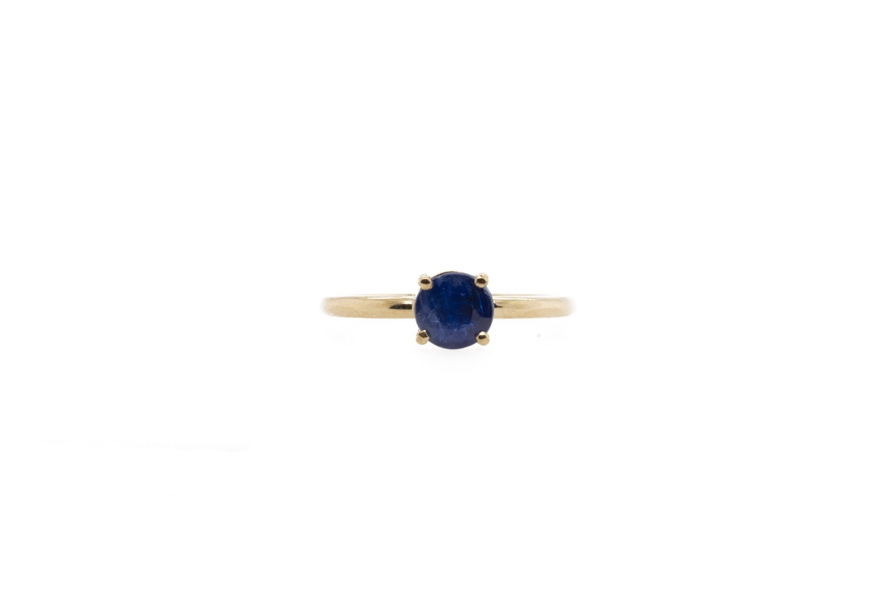 Custom Stackable Blue Sapphire Ring