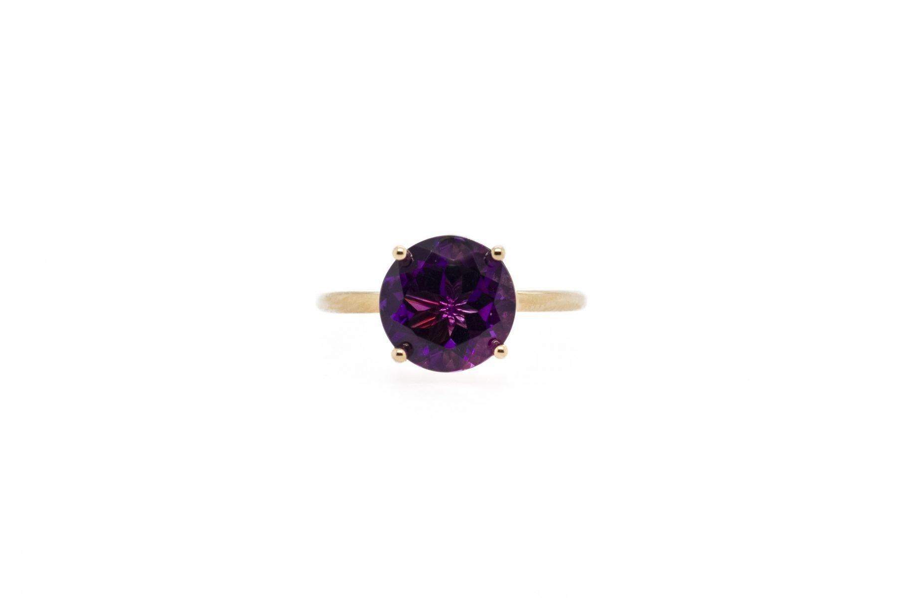 Custom Stackable Amethyst Ring