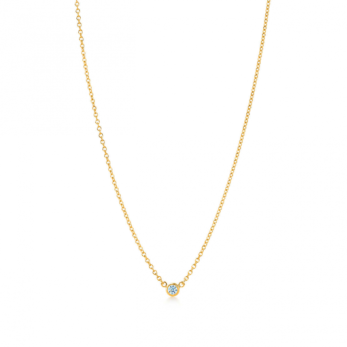 0.15-carat Diamond by the Yard Necklace