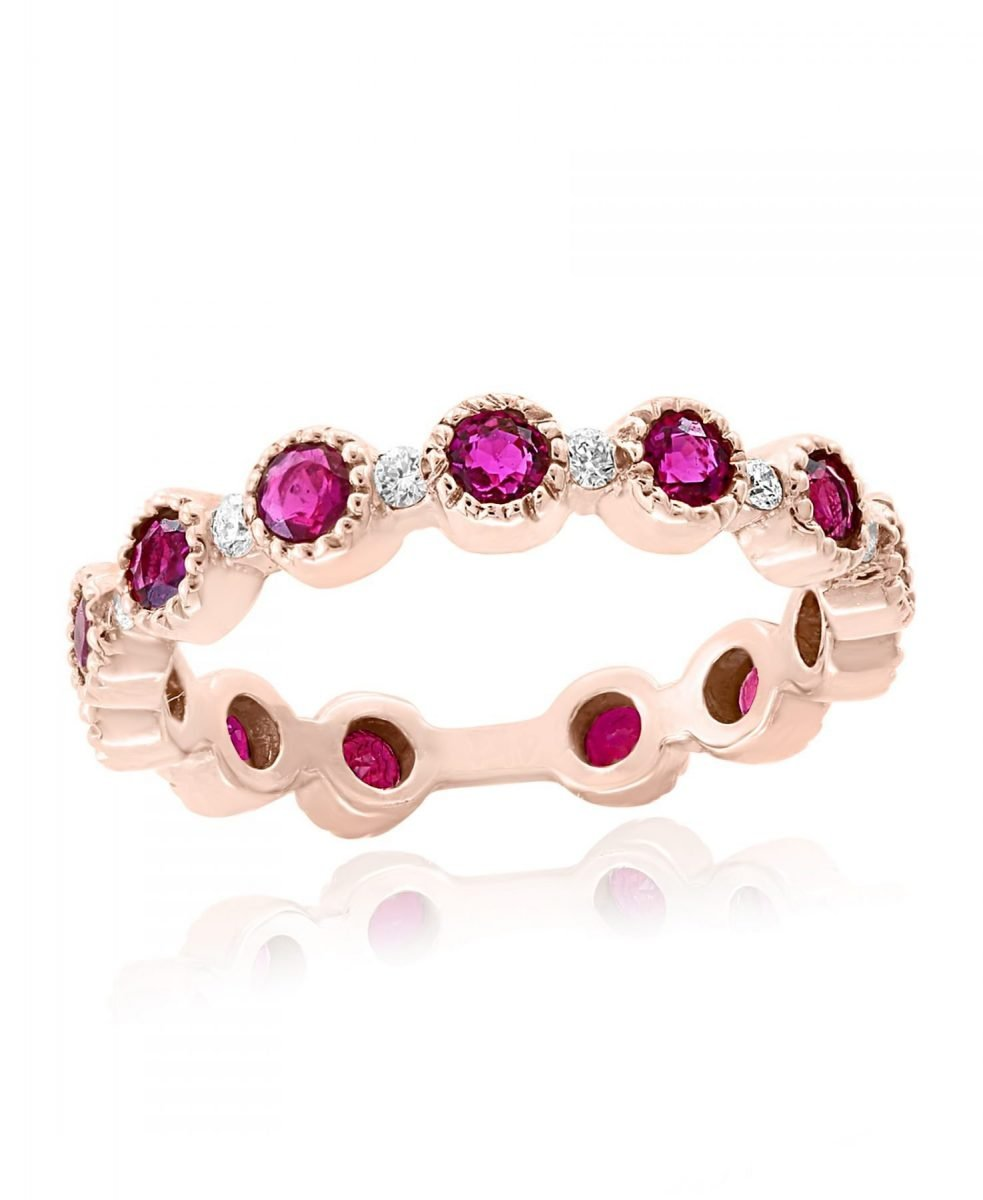 Rose gold Ruby & Diamond Ring