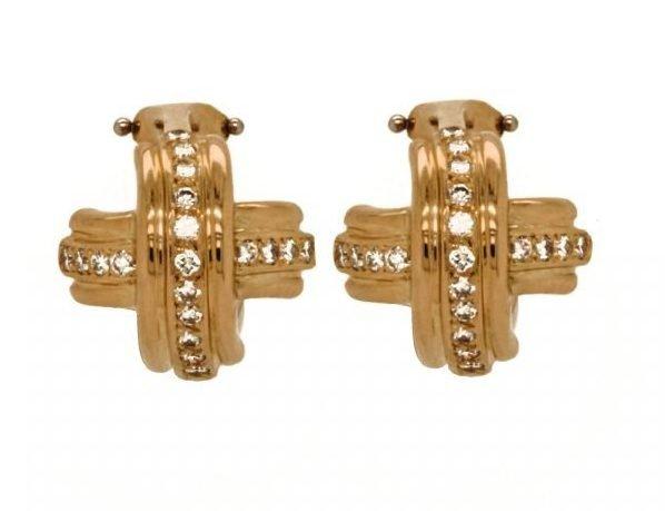 """Tiffany & Co Diamond """"X"""" Earrings"""