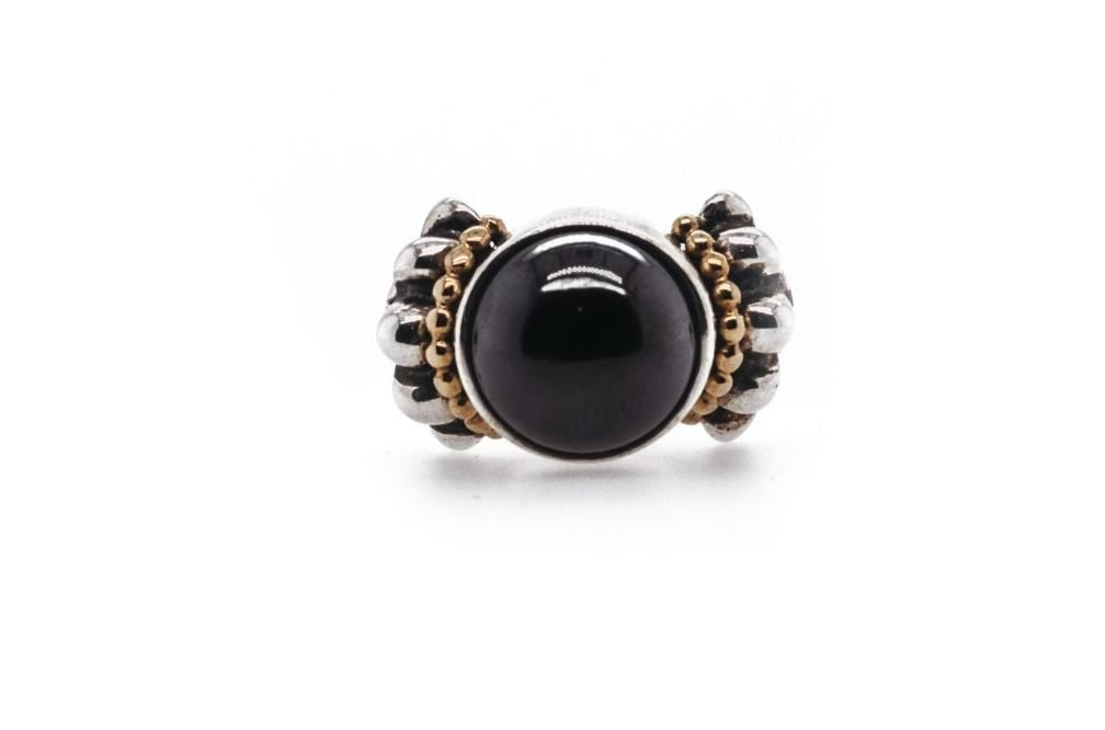18k/Silver Hematite Ring
