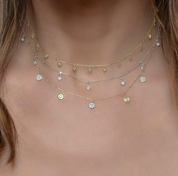 judefrances layered dainty necklaces gold and silver