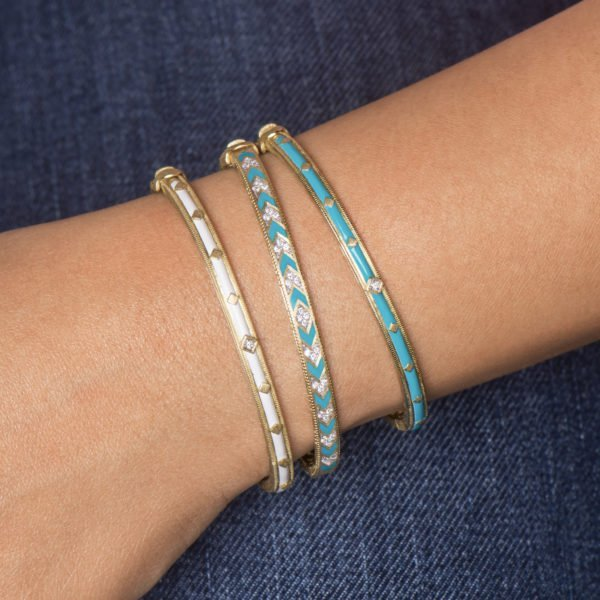 judefrances bangle bracelets gold and turquoise