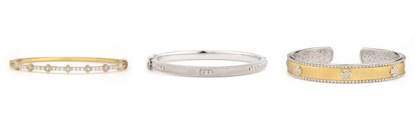 judefrances bangle bracelets gold and silver