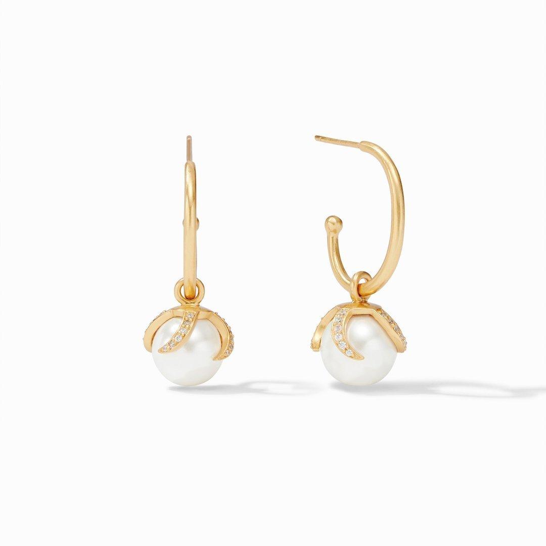 Julie Vos Juliet Statement Hoop & Charm Earring