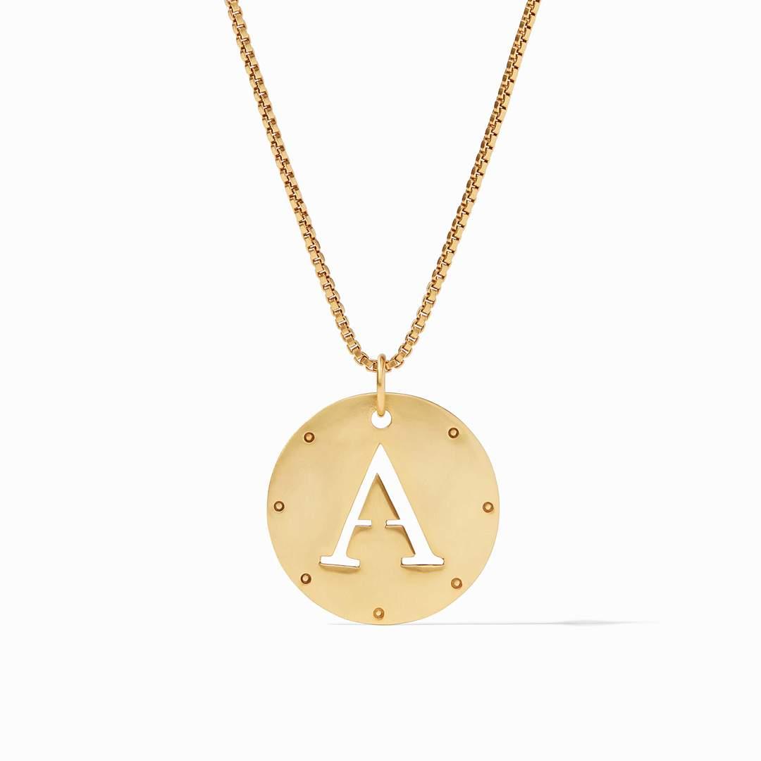 Julie Vos Monogram Pendant Necklace